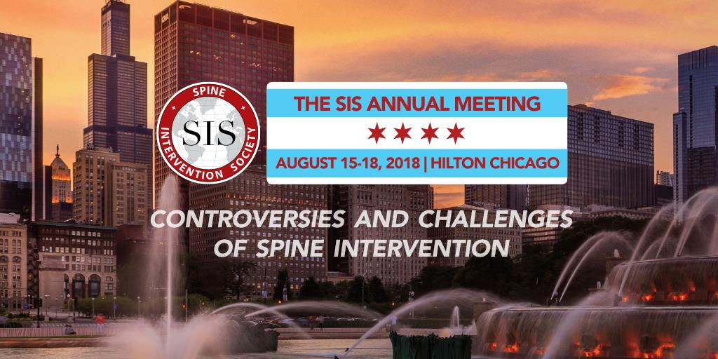 Spine Intervention Society Annual Scientific meeting in Chicago